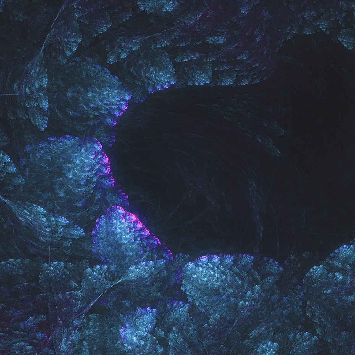 3D render of a fractal cave