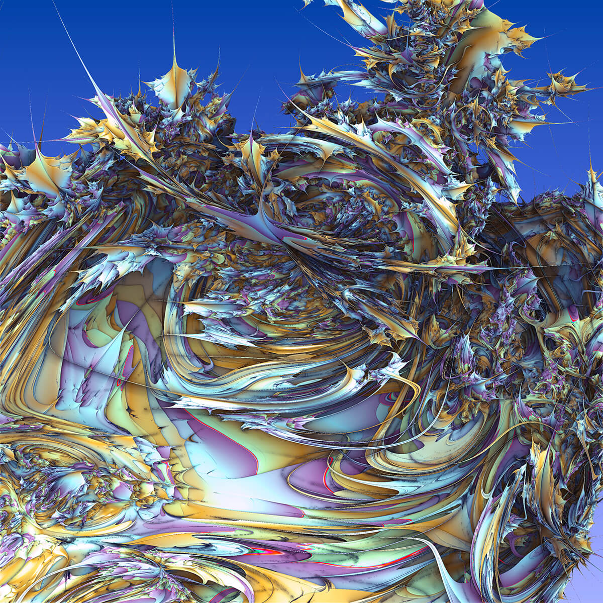 3D render of fractal abstract shape