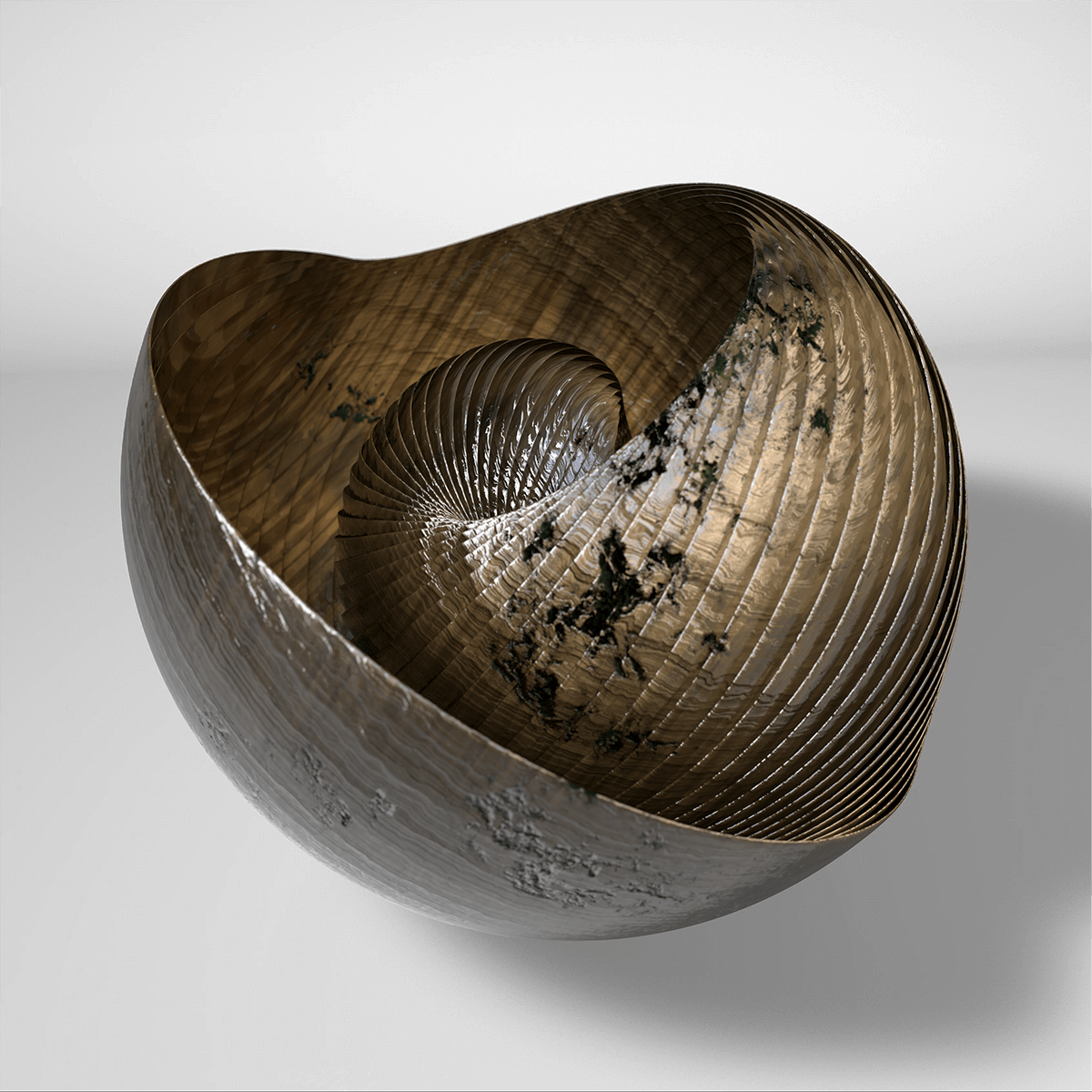 3D render of a abstract trilobite