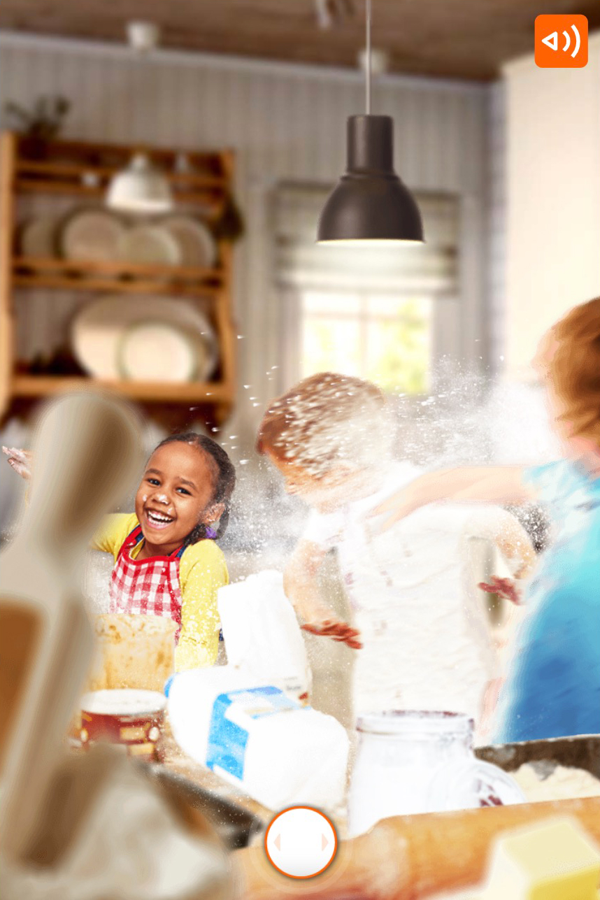 ING-what would you choose scenario where you see kids in a kitchen playing and throwing flour at each other