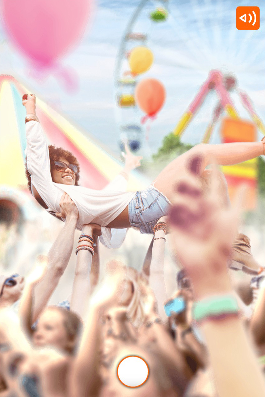 ING-what would you choose scenario where you see a girl crowdsurfing in a crowd