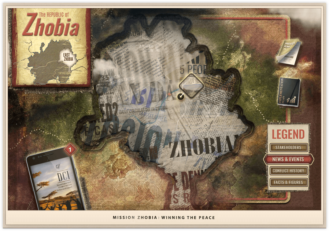 Mission Zhobia top down map view - news & events version