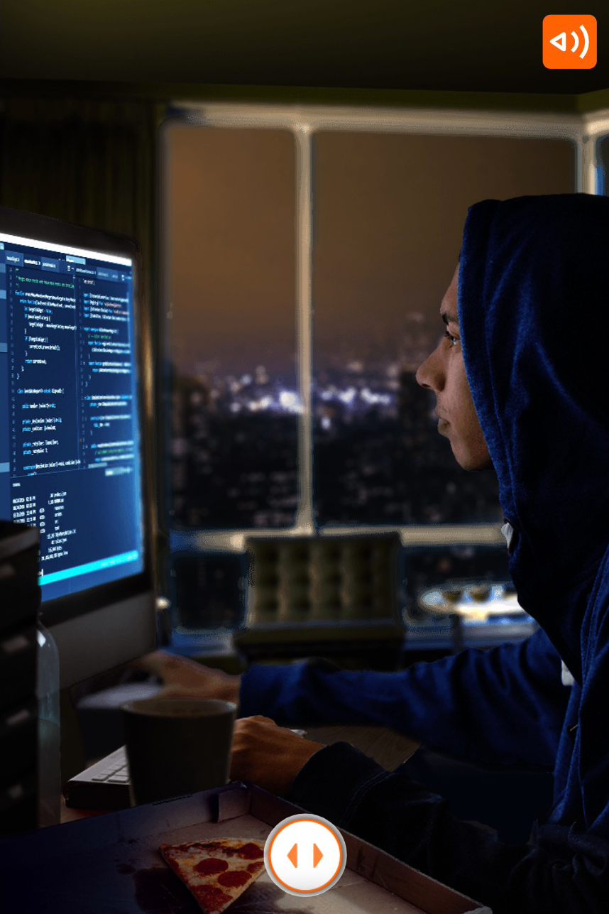 ING-what would you choose scenario where you see a hacker working