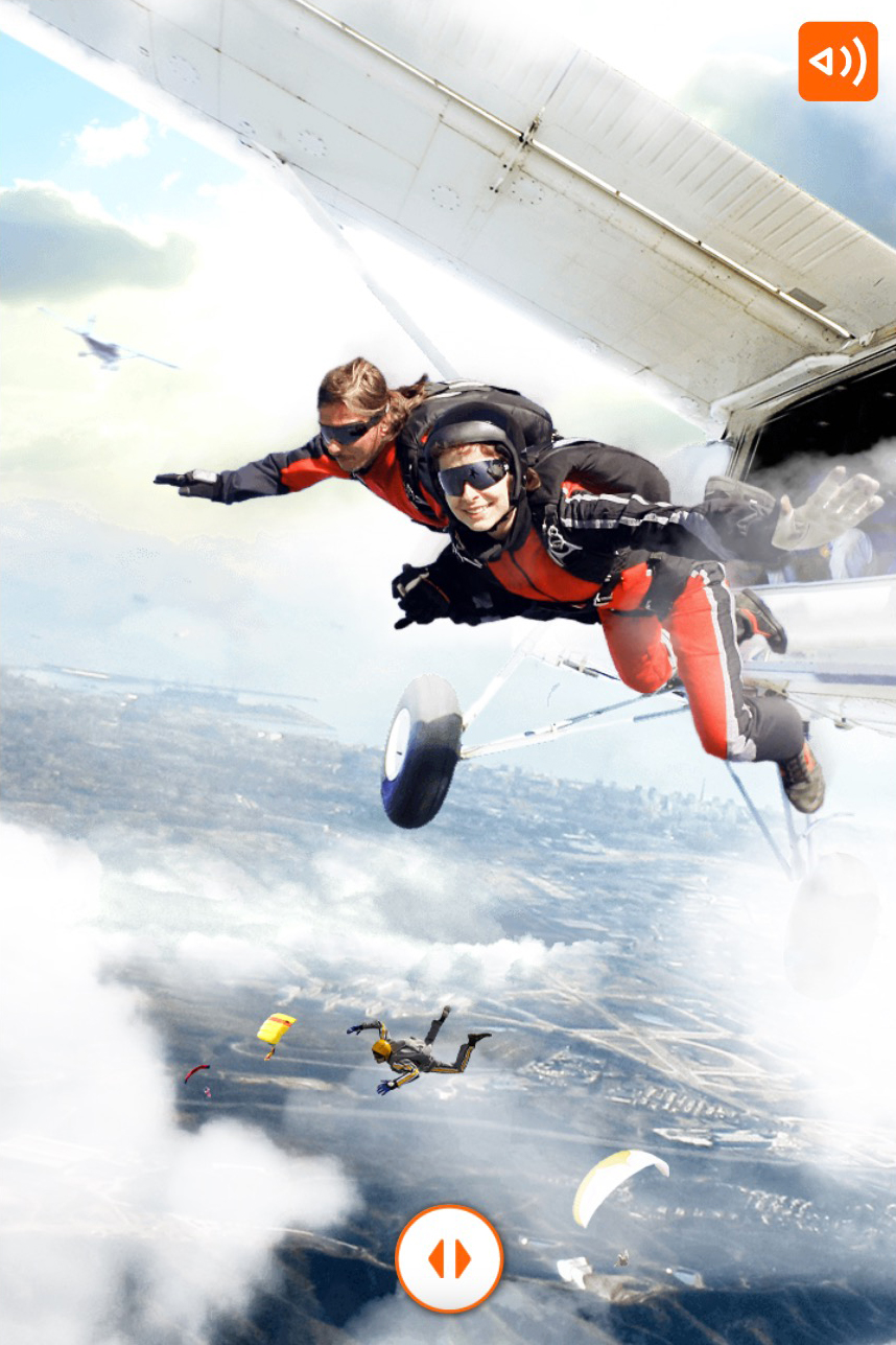 ING-what would you choose scenario where you see people skydiving