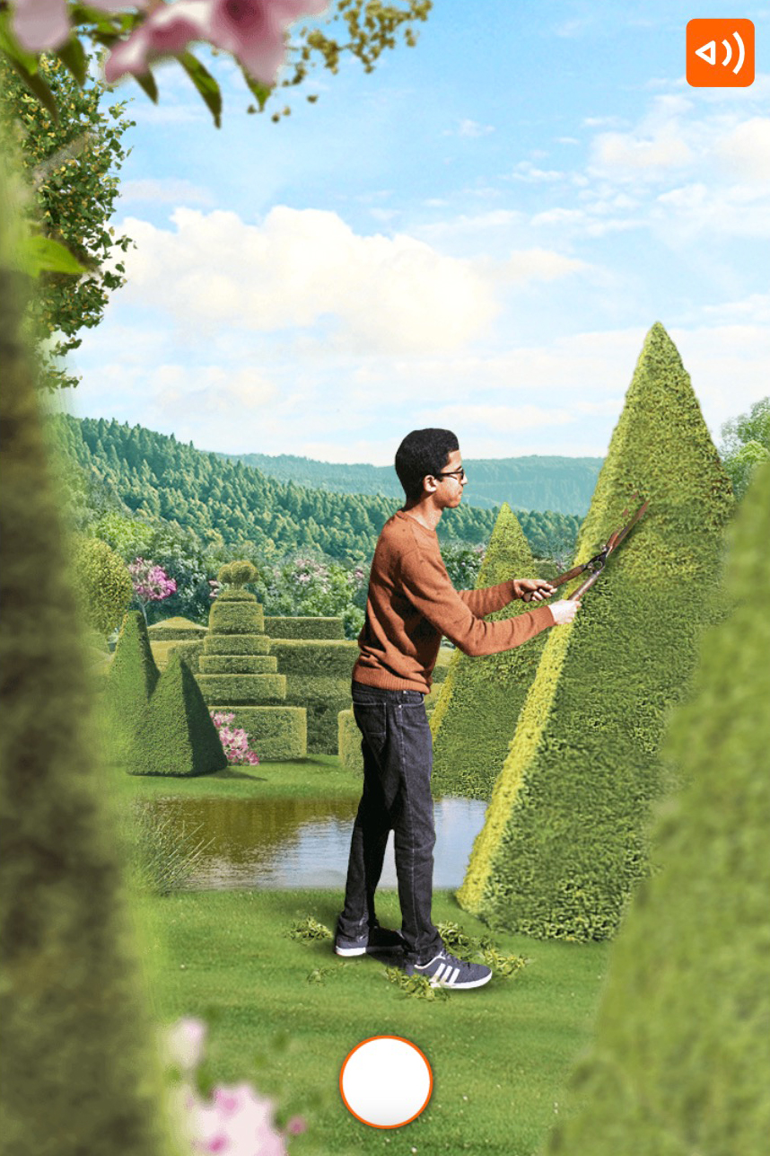 ING-what would you choose scenario where you see a gardener trimming plants