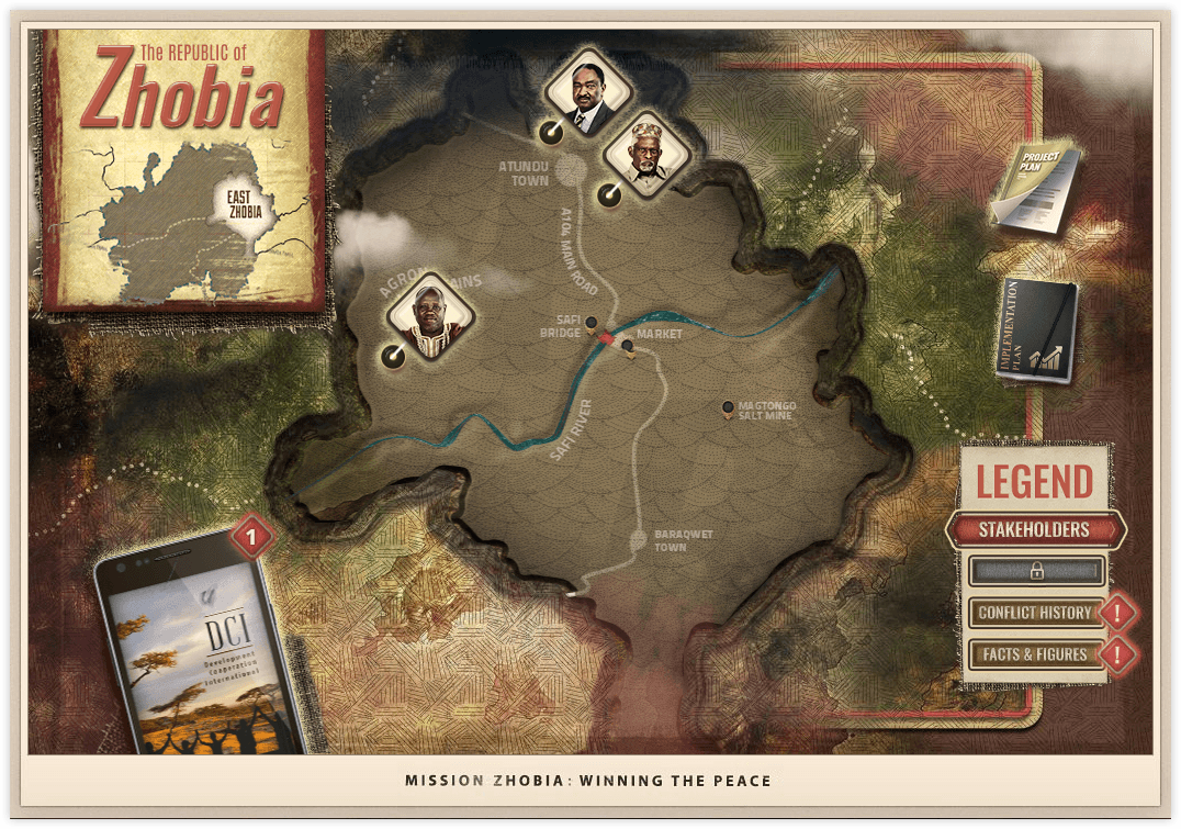 Mission Zhobia top down map view - Stakeholders version