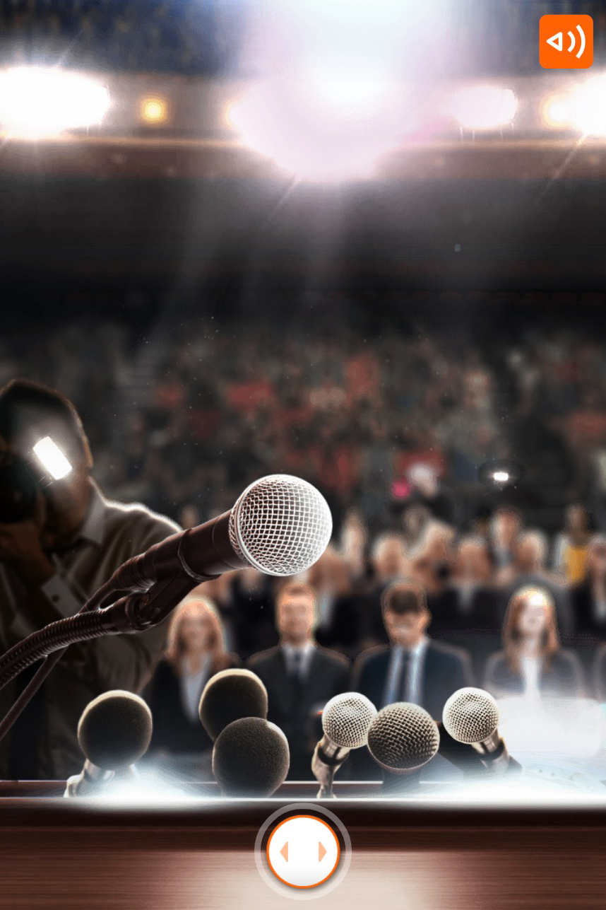 ING-what would you choose scenario where you see a microphone in front of a big audience