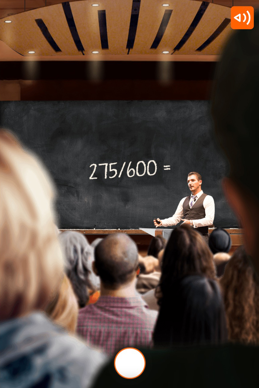 ING-what would you choose scenario where you see a teacher in a classroom with a question on the chalkboard
