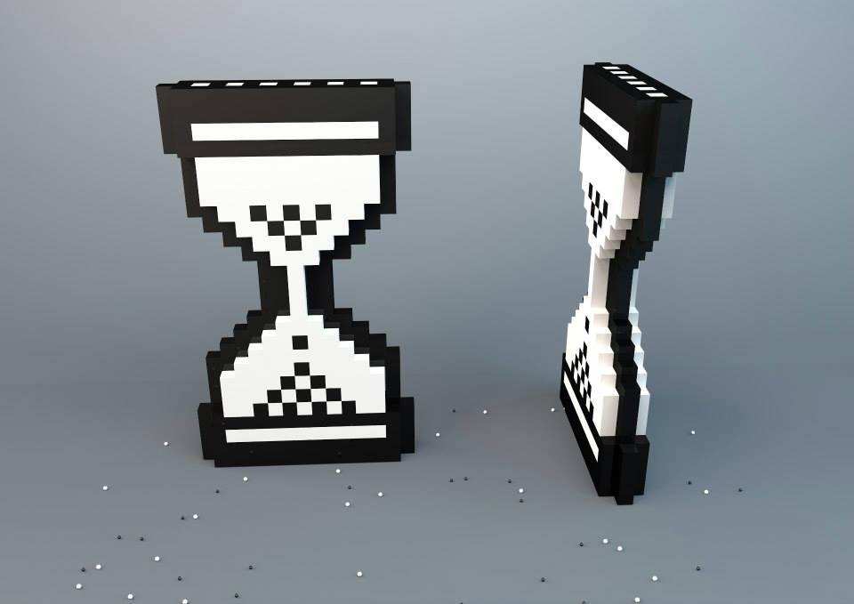 3D render pixel loading saltshaker