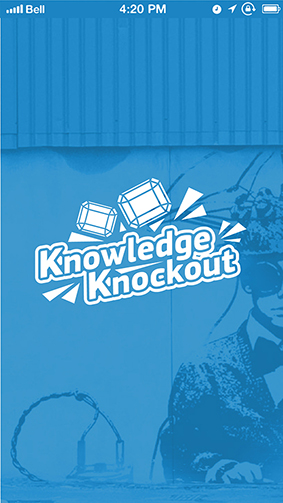 Knowledge knockout splashscreen generic