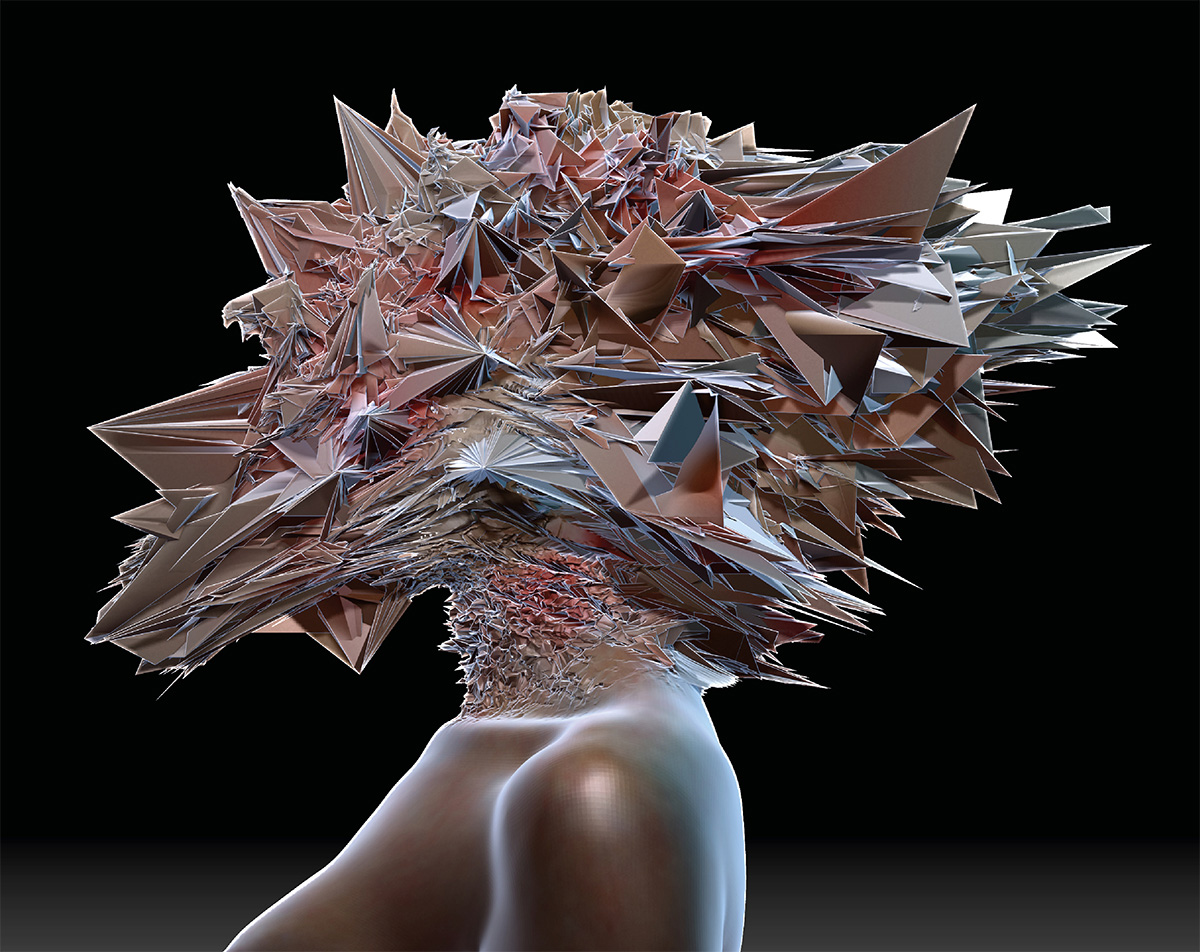 Fading boundaries mutated head female version side