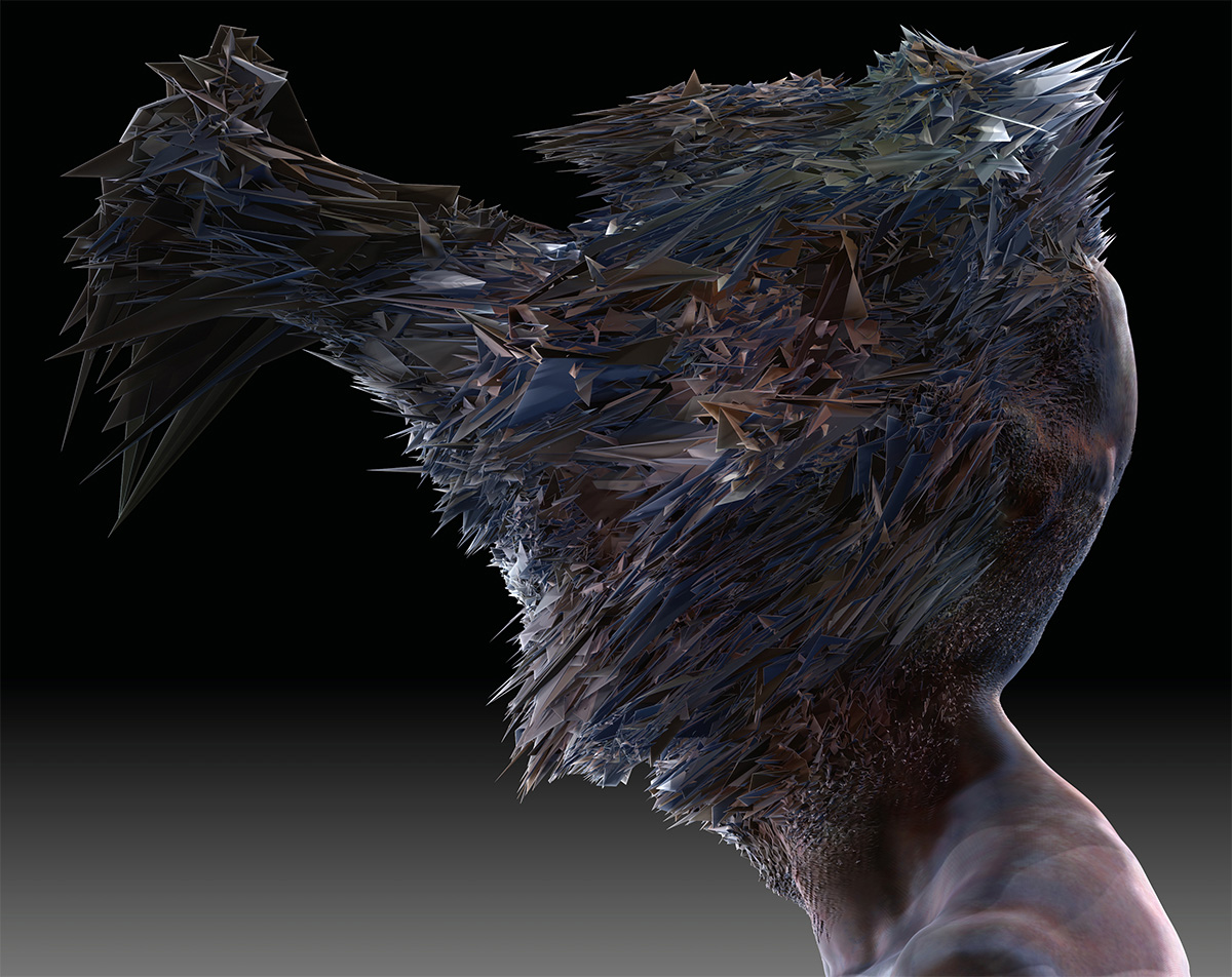 Fading boundaries mutated head male version side